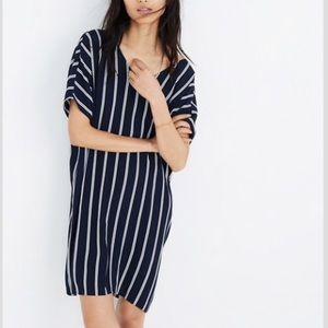 Madewell Plaza striped navy white dress